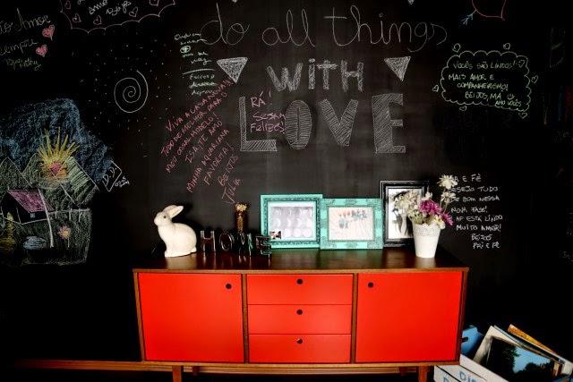 quadro negro - sala de estar